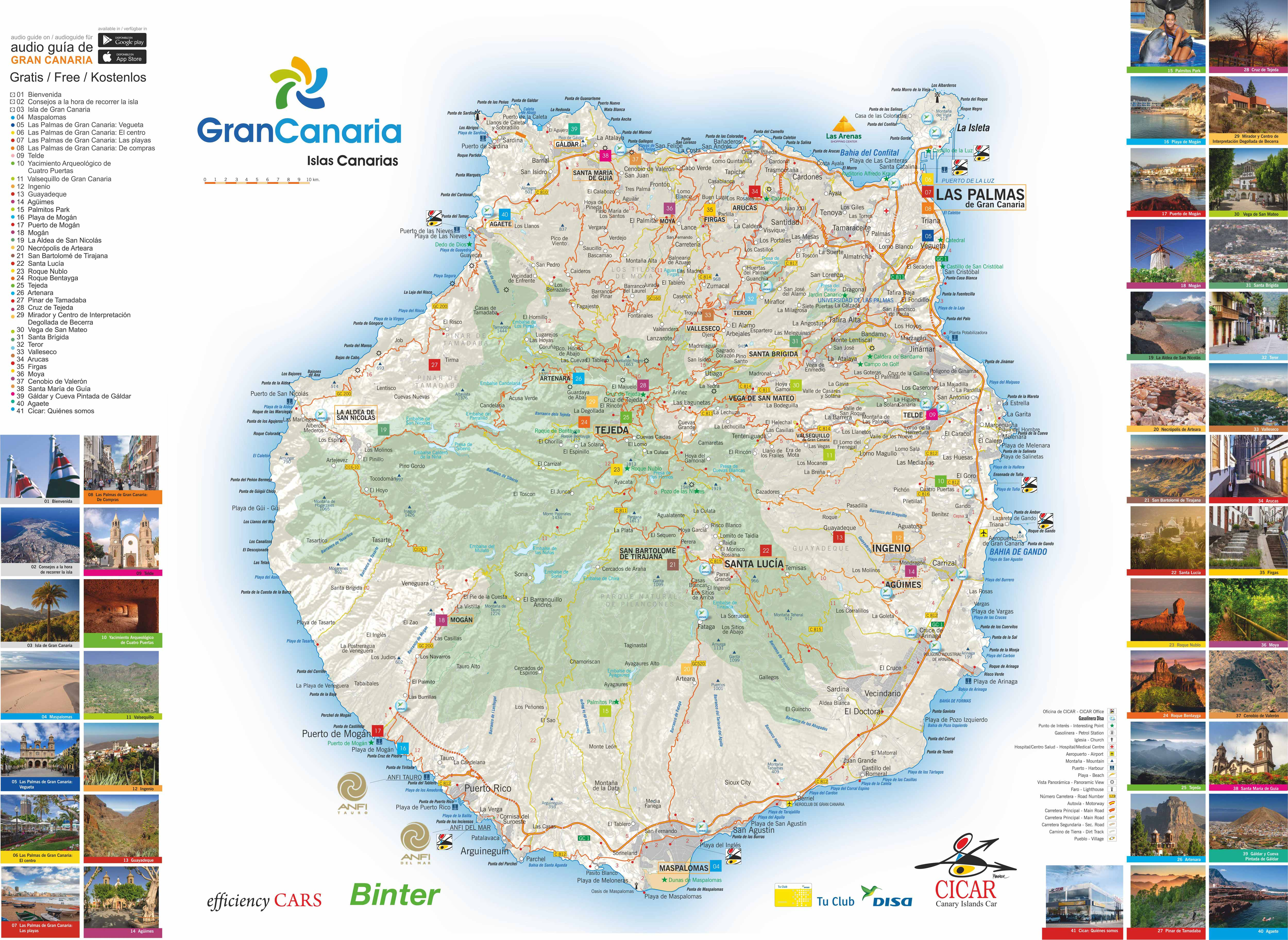 See map of gran canaria