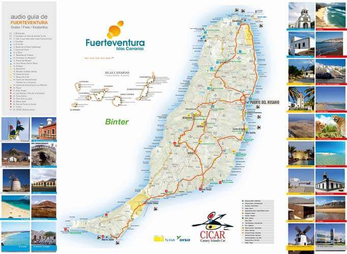 Maps of Fuerteventura