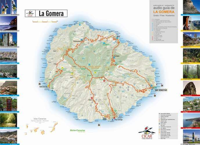 Maps of La Gomera