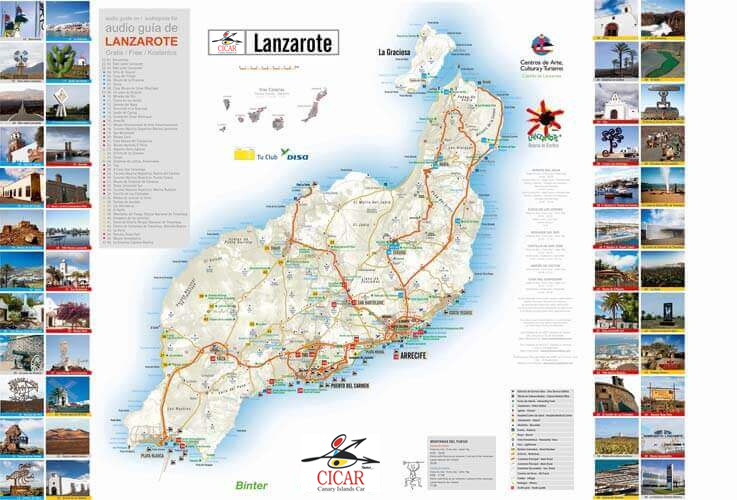 Maps of Lanzarote