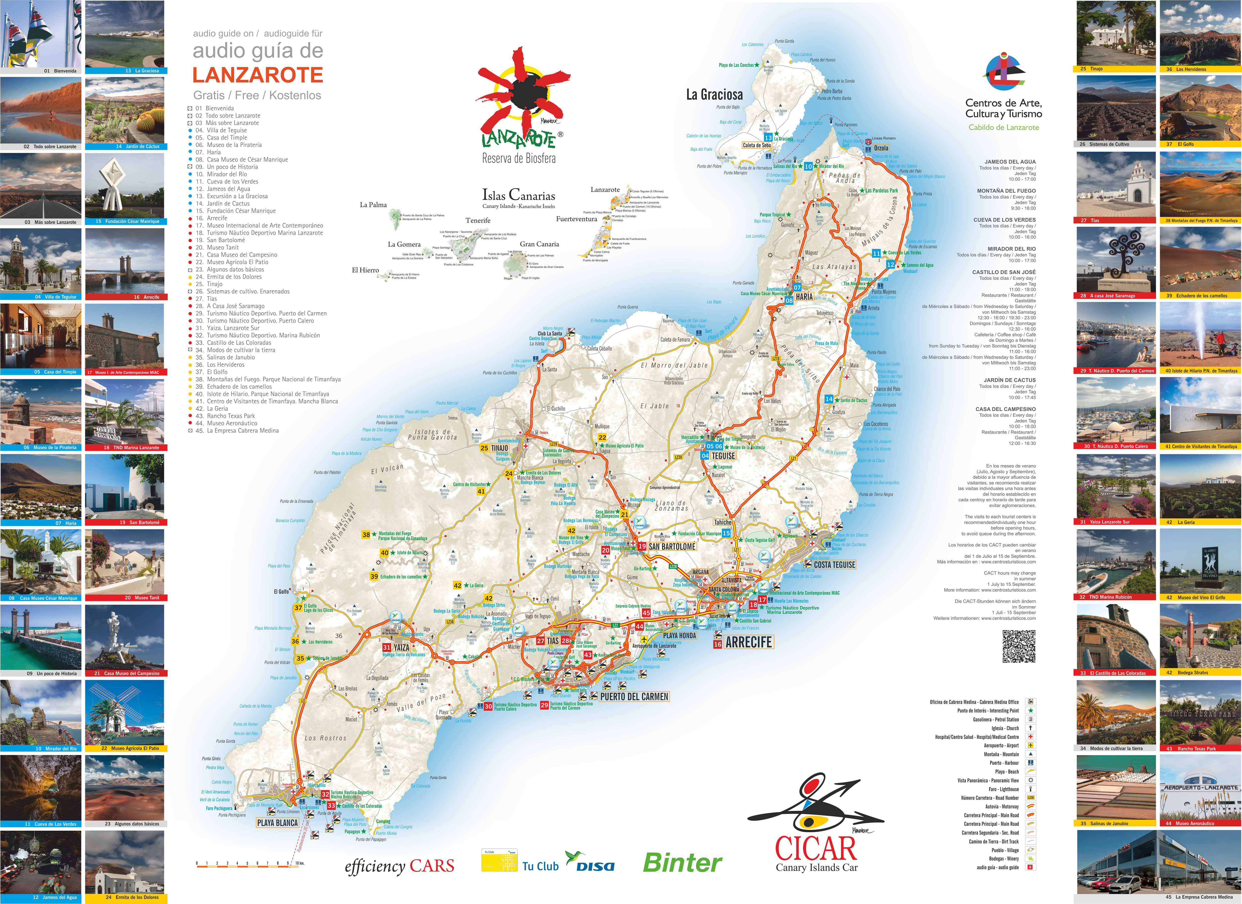 Carte Tenerife A Imprimer.Canaries Iles Cartes Cicar