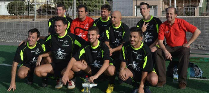 Cicar patrocina al equipo fútbol 7 para sordos de Lanzarote
