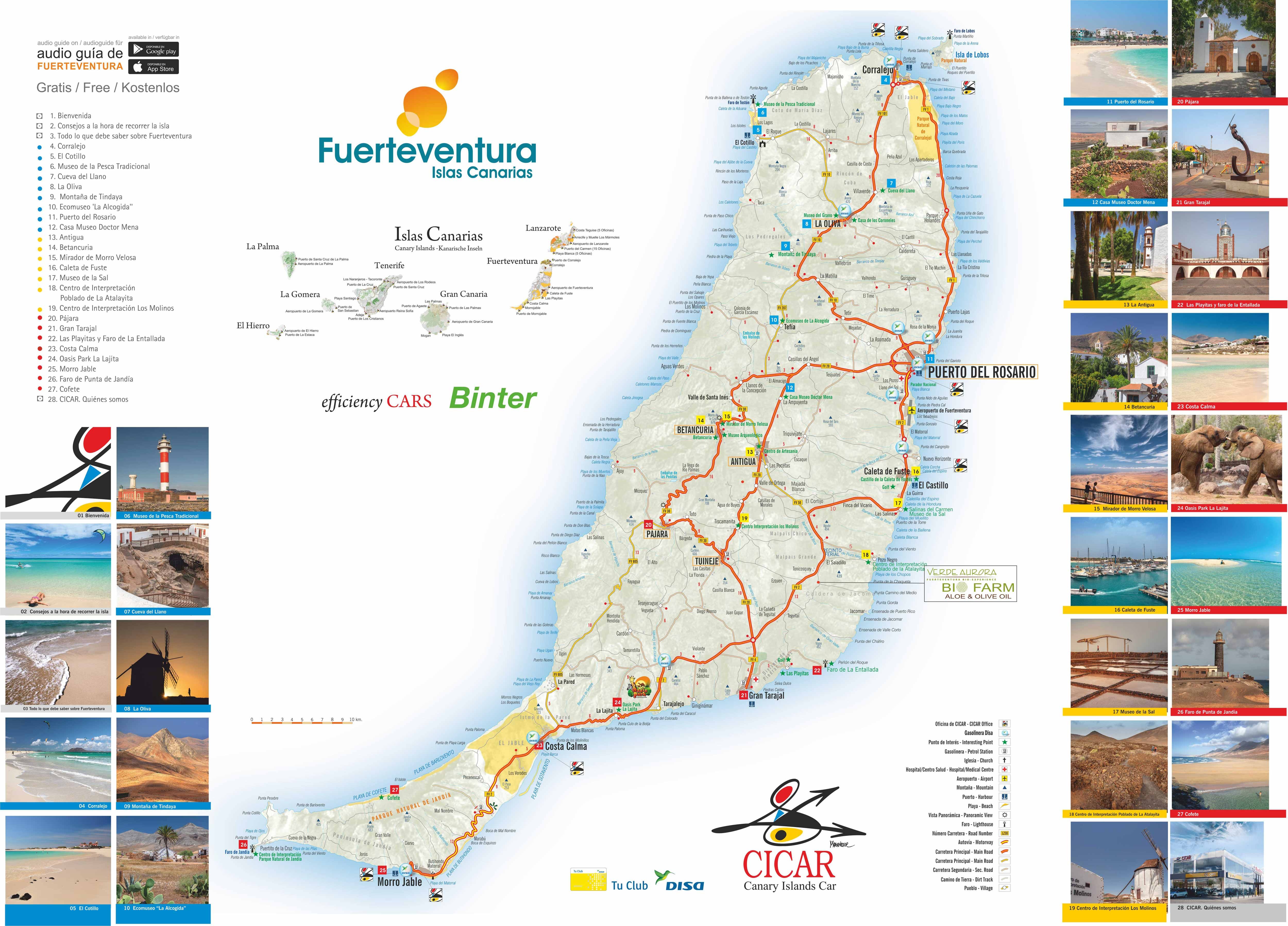 Fuerteventura Island Map Canary Islands Maps | CICAR